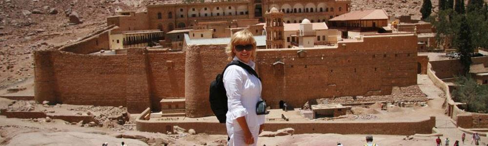 Dahab Klášter Svaté Kateřiny a barevný kaňon Salama